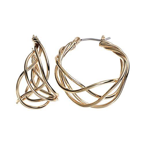 Dana Buchman Woven Hoop Earrings