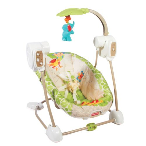 Fisher-Price Rainforest Friends SpaceSaver Swing and Seat