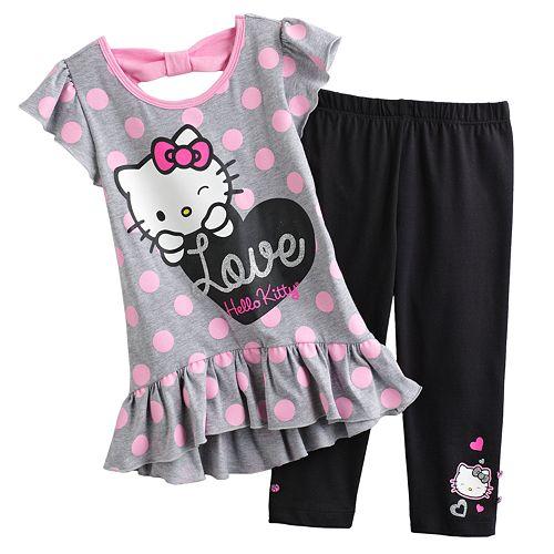 380eefc19 Hello Kitty® Peplum Tunic & Leggings Set - Girls 4-7