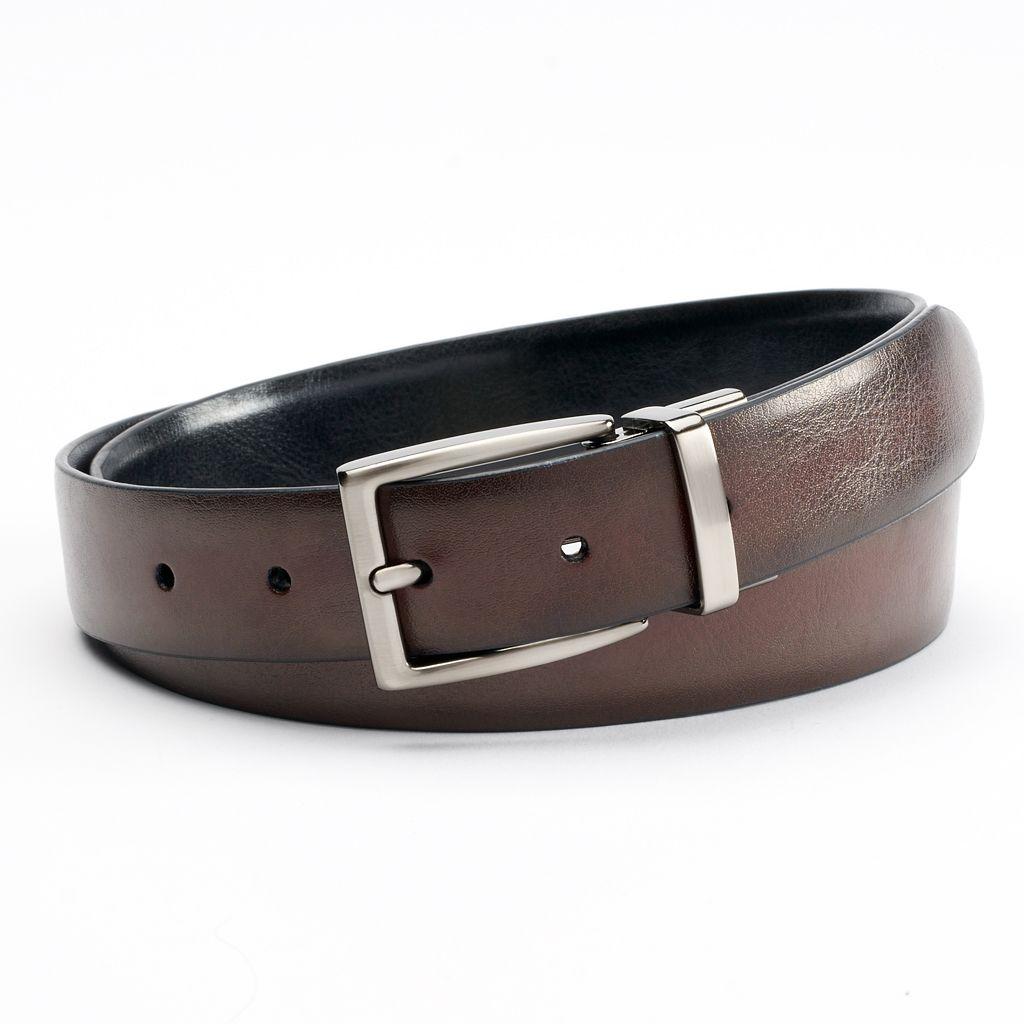 Croft & Barrow® Reversible Soft-Touch Feather-Edge Belt - Men