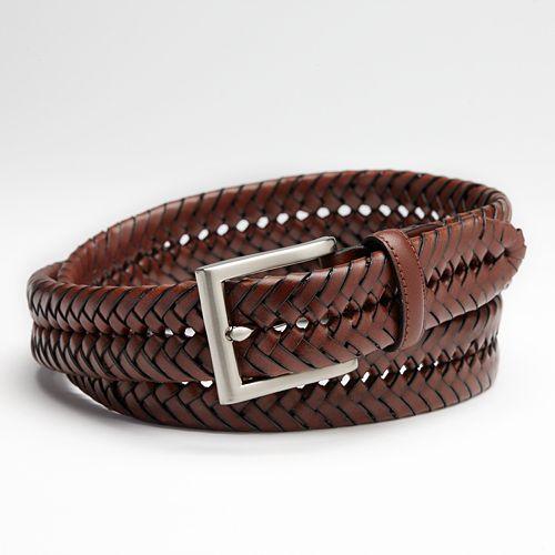 Croft & Barrow® Handlaced Basket Weave Braided Belt - Big & Tall