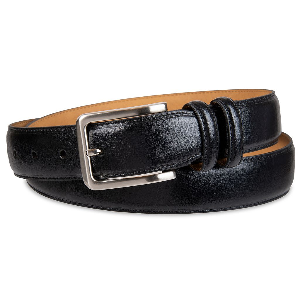 Men's Croft & Barrow® Feather-Edge Stitched Belt