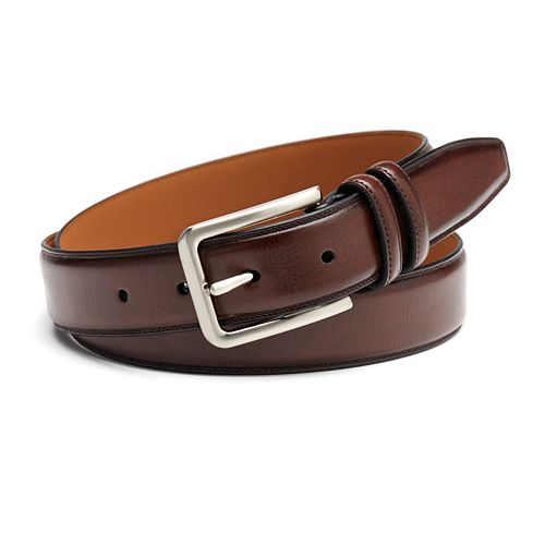 Men's Croft & Barrow® Feather-Edge Stitched Belt
