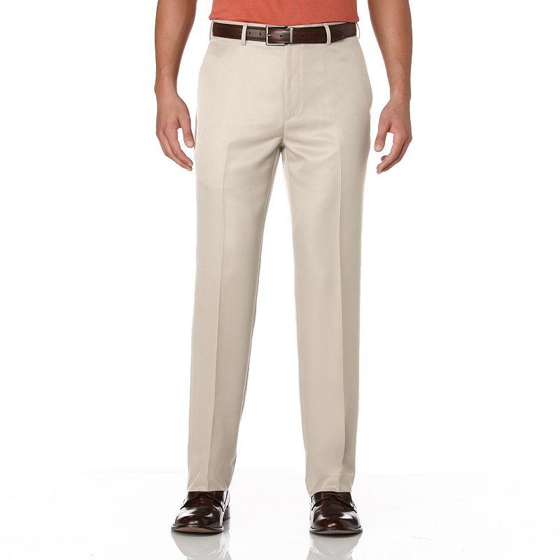 Savane Pinstripe Straight-Fit Flat-Front Dress Pants - Men