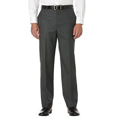 Big & Tall Savane Sharkskin Straight-Fit Flat-Front Dress Pants