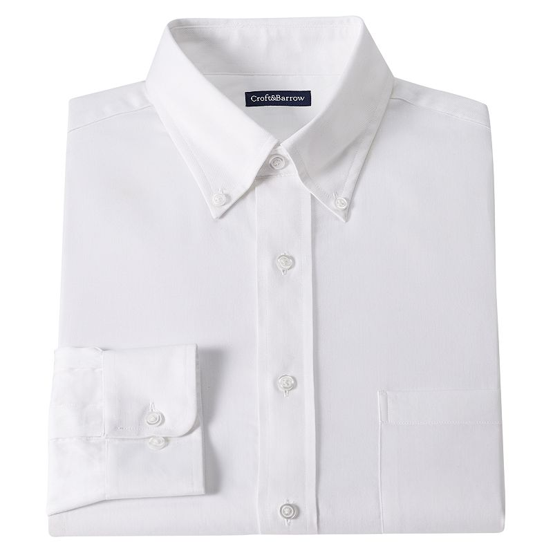 Croft & Barrow Classic-Fit Solid Twill Dress Shirt - Men