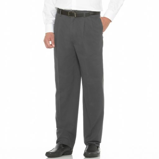 Men's Savane Performance Straight-Fit Easy-Care Pleated Chinos