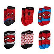 Marvel Ultimate Spider-Man 6 pkSocks - Toddler