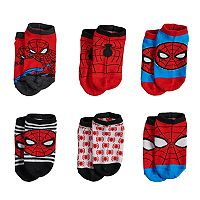 Marvel Ultimate Spider-Man 6 pkSocks - Toddler