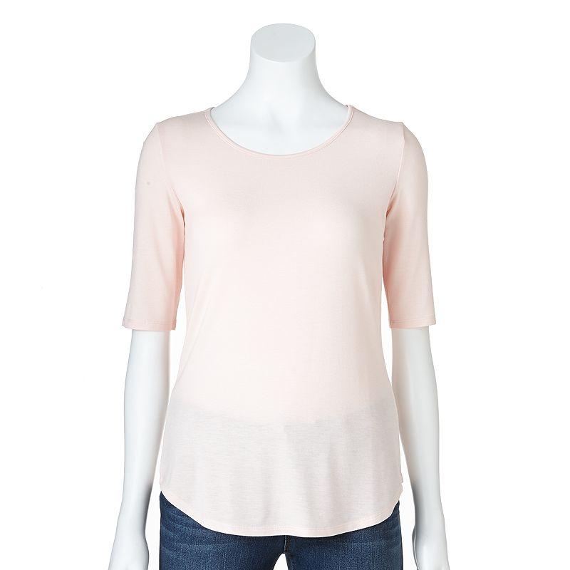 Apt. 9 Shirt-tail Hem Tee - Women's