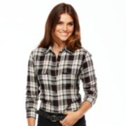 Chaps Plaid Shirt - Women's