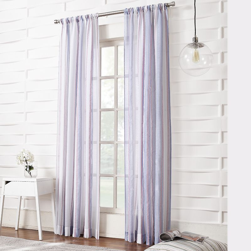 home classics ethan striped blackout window panel 54 39 39 x 84 39 39
