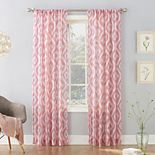 No. 918 Marquez Ikat Semi-Crushed Sheer Rod Pocket Curtain Panel