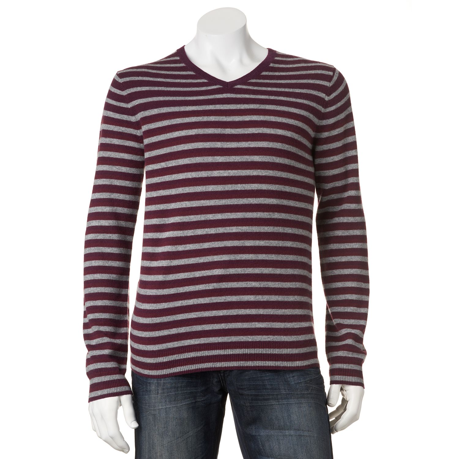 Sale Marc Anthony Striped Cashmere Sweater Men