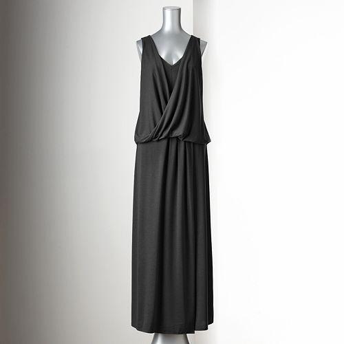 ac98ee3bfbf Simply Vera Vera Wang Twist-Front Maxi Dress - Women s