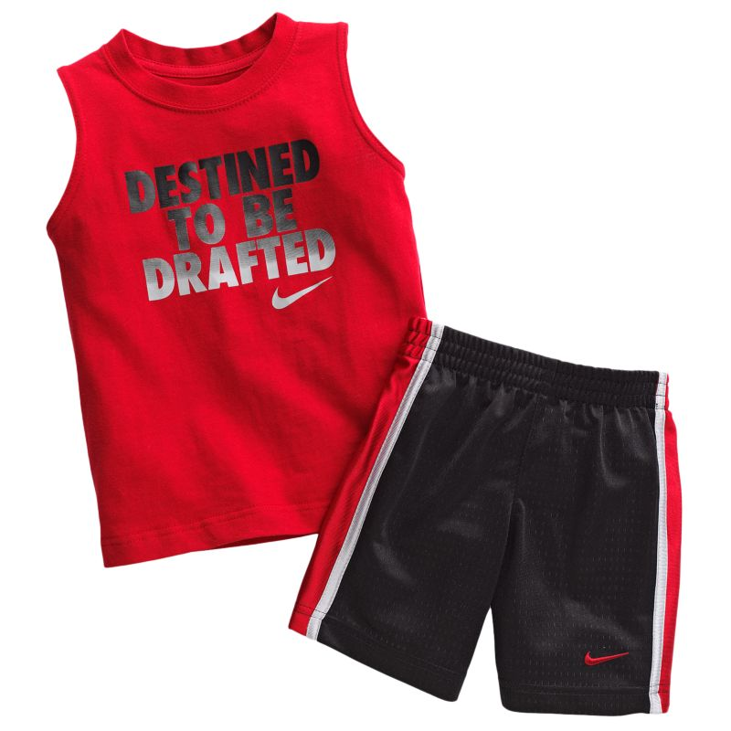 NIKE DESTINED TO BE DRAFTED MUSCLE TEE & SHORTS SET TODDLER