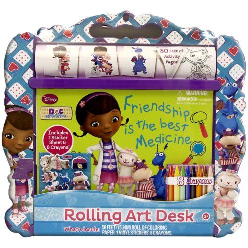 Disney Doc McStuffins Rolling Art Desk