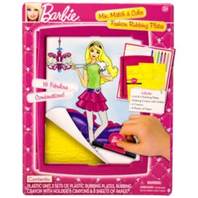 Barbie Mix, Match and Color Fashion Rubbing Plates by Mattel