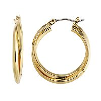 Dana Buchman Interlocking Hoop Earrings