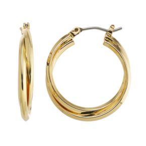 Dana Buchman Interlocking Hoop Earrings