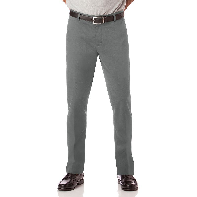 Chaps Custom-Fit Flat-Front Pants - Men