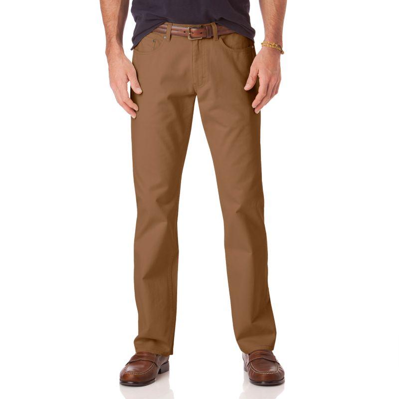 Chaps Classic-Fit 5-Pocket Twill Flat-Front Pants