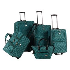 American Flyer Pemberly Buckles 5-Piece Luggage Set