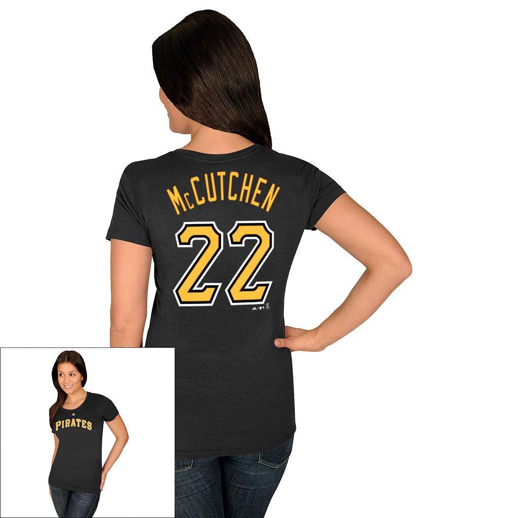 Women's Majestic Pittsburgh Pirates Andrew McCutchen Tee