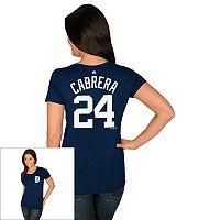 Women's Majestic Detroit Tigers Miguel Cabrera Tee