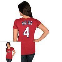 Women's Majestic St. Louis Cardinals Yadier Molina Tee