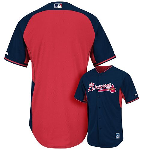size 40 061fe c6b5b Men's Majestic Atlanta Braves Cool Base Batting Practice Jersey