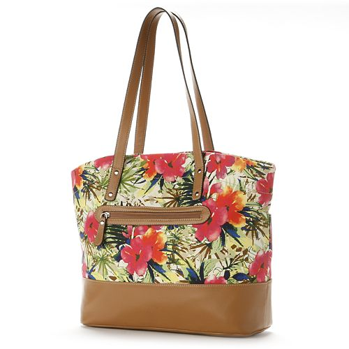 Croft & Barrow® Tropical Floral Canvas Tote