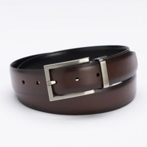 Apt. 9® Saffiano Calf Grain Reversible Dress Belt - Men