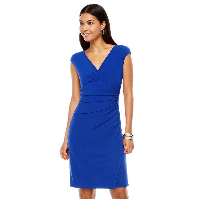 Innovative Women39s Chaps Jacquard Fit Amp Flare Dress