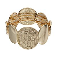 Dana Buchman Textured Circle Stretch Bracelet