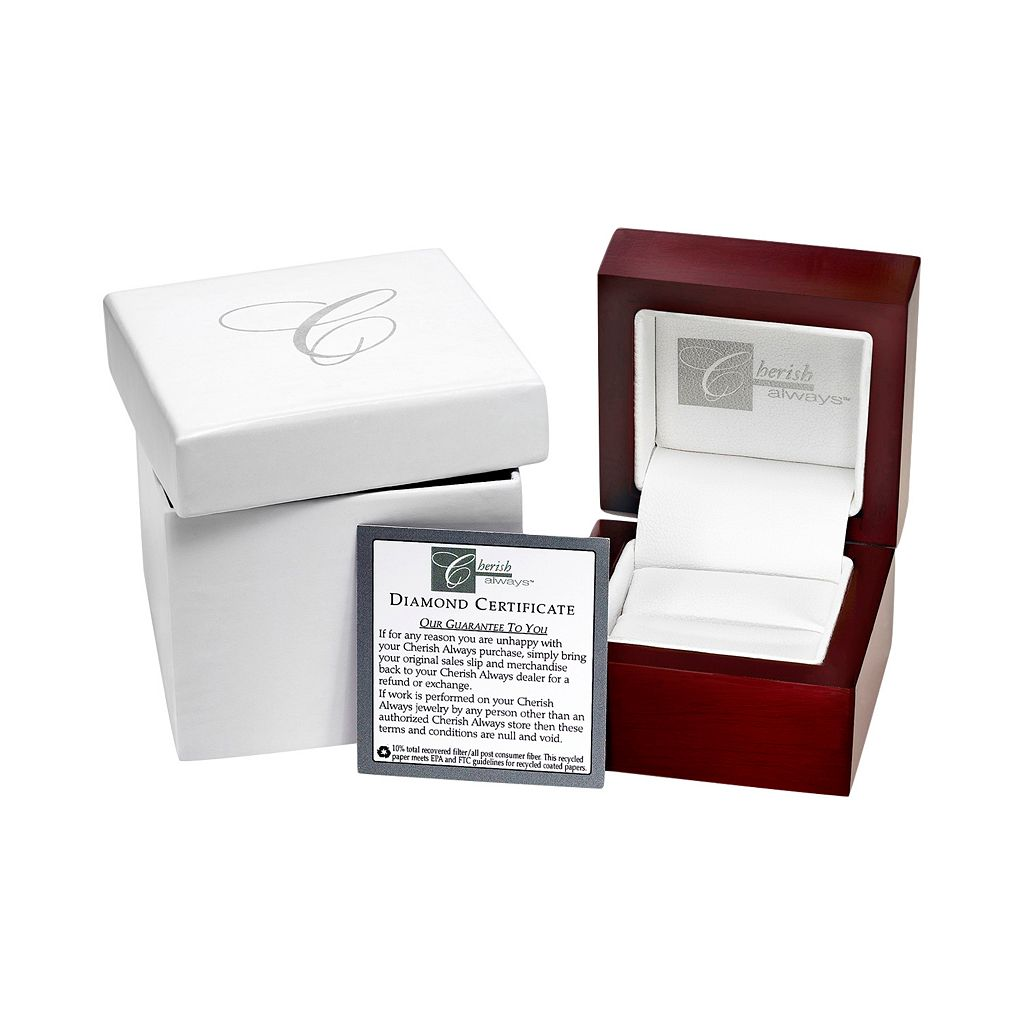 Cherish Always Diamond Square Halo Engagement Ring in 10k White Gold (1/2 ct. T.W)