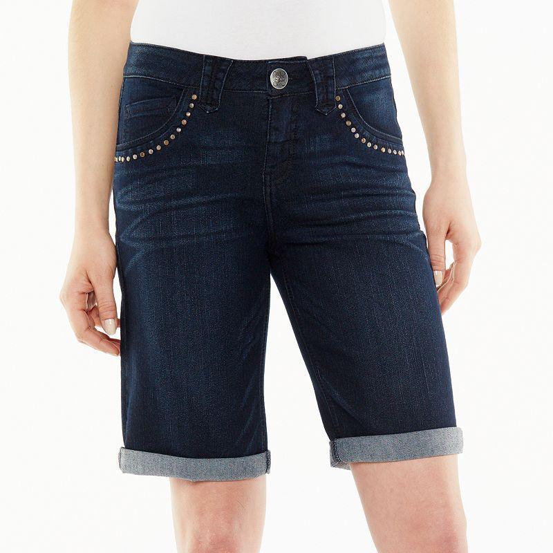 Artisan Crafted by Democracy Embellished Denim Bermuda Shorts - Women's