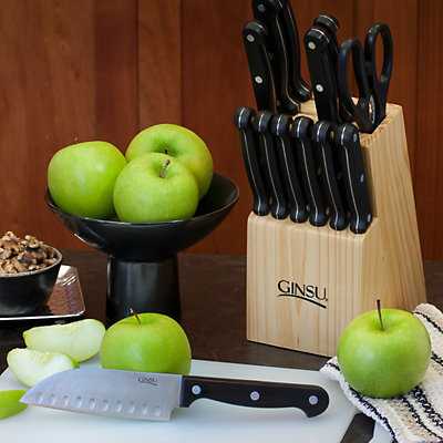 Ginsu Essential Series 14-pc. Stainless Steel Serrated Knife Set