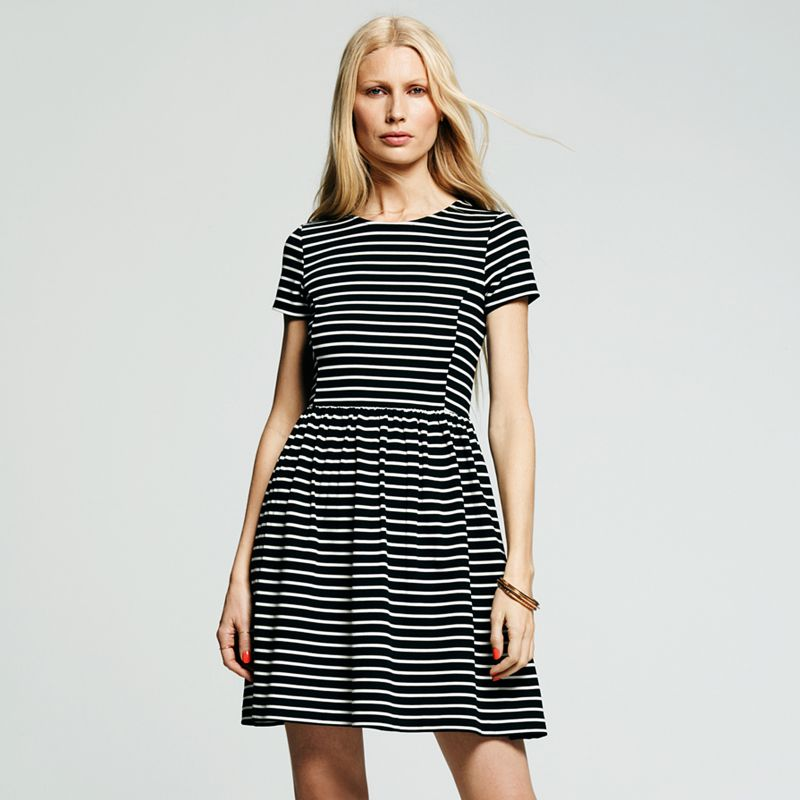 Elegant Of Women S Dresses Including This Chaps Solid Knot Front Empire Dress