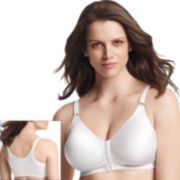 Playtex Bra: 18-Hour Sensationally Sleek Full-Figure Full-Coverage Wireless Racerback Bra 4930 - Women's
