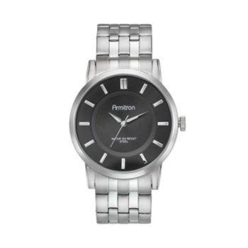Armitron Men's Stainless Steel Watch - 20/4962BKSV