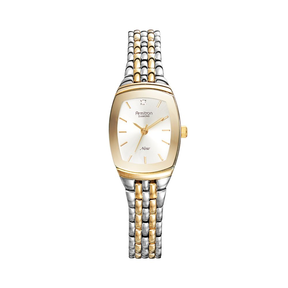 Armitron Women's NOW Diamond Two Tone Watch - 75/5195SVTT
