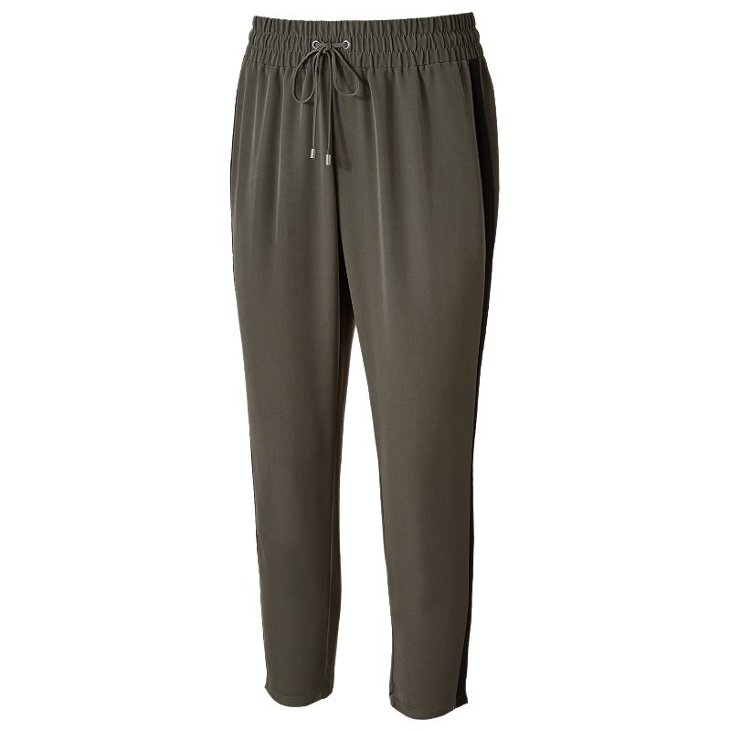 Original  Se80348213f96c4149d12c14dbd01674b This Pants Template For Women Is Tapered And Have Contrast Color Side Panels These Pants Have Pockets On Sides Which Are Going Sitting On The Side Seam A Simple And Easy To Edit