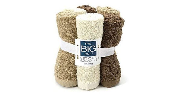 Washcloths History: The Big One® Solid 6-pack Washcloths