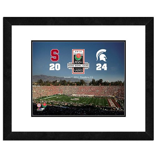 """Michigan State Spartans 2014 Rose Bowl Champions 18"""" x 22"""" Framed Photo"""