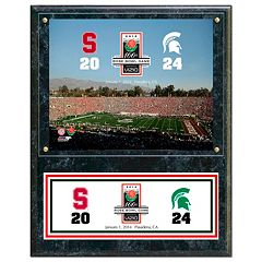 Michigan State Spartans 2014 Rose Bowl Champions 12' x 15' Plaque