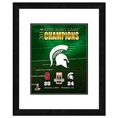 Michigan State Spartans 2014 Rose Bowl Champions 18' x 22' Framed Logo