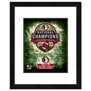 Florida State Seminoles 2013 BCS National Champions 18' x 22' Framed Logo