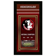 Florida State Seminoles National Champions 4.5' x 27.5' Framed Banner