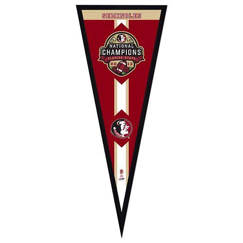 "Florida State Seminoles 2013 BCS National Champions 13"" x 33"" Pennant Frame"